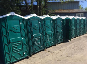 Біотуалет кабіна вуличний від чотирьох одиниць (зелений)