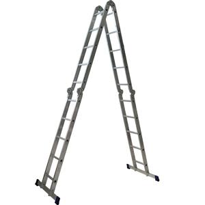 Алюмінієва чотирьохсекційна шарнірна драбина трансформер 4 х 5 сходинок