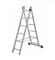 Алюминиевая двухсекционная универсальная лестница 2 х 6 ступеней купить на ТехПром
