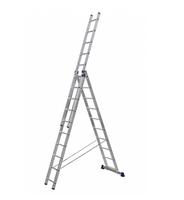 Алюминиевая трехсекционная универсальная лестница 3 х 10 ступеней купить на ТехПром