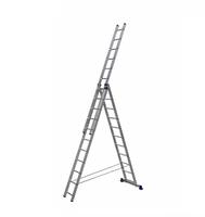 Алюминиевая трехсекционная универсальная лестница 3 х 11 ступеней купить на ТехПром