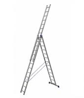 Алюминиевая трехсекционная универсальная лестница усиленная 3 х 13 ступеней купить на ТехПром