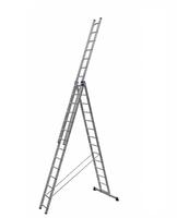 Алюминиевая трехсекционная универсальная лестница усиленная 3 х 14 ступеней купить на ТехПром