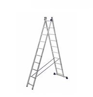 Лестница алюминиевая двухсекционная универсальная 2 х 10 ступеней купить на ТехПром