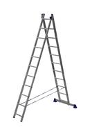 Лестница алюминиевая двухсекционная универсальная 2 х 11 ступеней купить на ТехПром