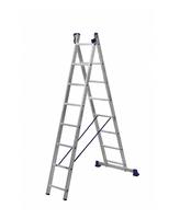 Лестница алюминиевая двухсекционная универсальная 2 х 8 ступеней купить на ТехПром