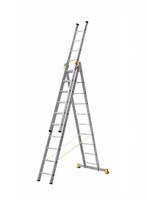 Лестница алюминиевая профессиональная трехсекционная универсальная 3 х 10 ступеней купить на ТехПром