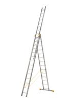 Лестница алюминиевая профессиональная трехсекционная универсальная 3 х 14 ступеней купить на ТехПром