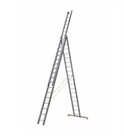Лестница алюминиевая профессиональная трехсекционная универсальная 3 х 18 ступеней купить на ТехПром