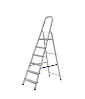 Лестница стремянка алюминиевая односторонняя на 6 ступеней купить на ТехПром