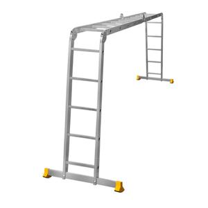 Лестница трансформер алюминиевая профессиональная четырехсекционная 4 x 5 ступеней фото 1 ТехПром