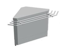 Нейтральный элемент угловой (НЭ-У) наружный 90° СТАНДАРТ 304/Ст.3 (без полок) купить на ТехПром