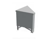 Нейтральный элемент угловой (НЭ-У) внутренний 45° МАСТЕР 304/304 (без полок) купить на ТехПром
