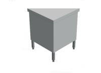Нейтральный элемент угловой (НЭ-У) внутренний 90° МАСТЕР 304/304 (без полок) купить на ТехПром