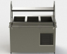 Прилавок холодильный без бокса (ПВХЛС) МАСТЕР 201/201 VS 1500.0 (мм) фото 2 ТехПром