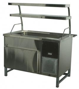 Прилавок холодильный без бокса (ПВХЛС) МАСТЕР 304/304 VSOP 1200.0 (мм)
