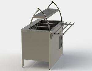 Прилавок холодильный без бокса (ПВХЛС) МАСТЕР 304/Ст.3 VSOP-1, 1000.0 (мм) фото 1 ТехПром