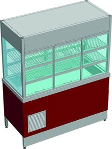 Прилавок-витрина холодильный без бокса (ПВХЛС-К) СТАНДАРТ 201/Ст.3, 1500.0 (мм)