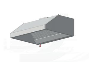 Зонт островной с освещением ЗВВП (AISI 430) 1400 х 1400 х 450 (мм) купить на ТехПром