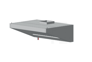 Зонт пристенный с освещением ЗВВП (AISI 430) 1500 х 1500 х 450 (мм) купить на ТехПром