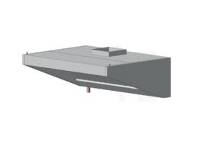 Зонт пристенный с освещением ЗВВП (AISI 430) 600 х 600 х 450 (мм) купить на ТехПром